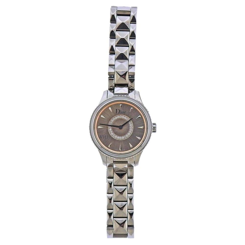 Dior Mini VIII Diamond Steel Watch CD151111M002