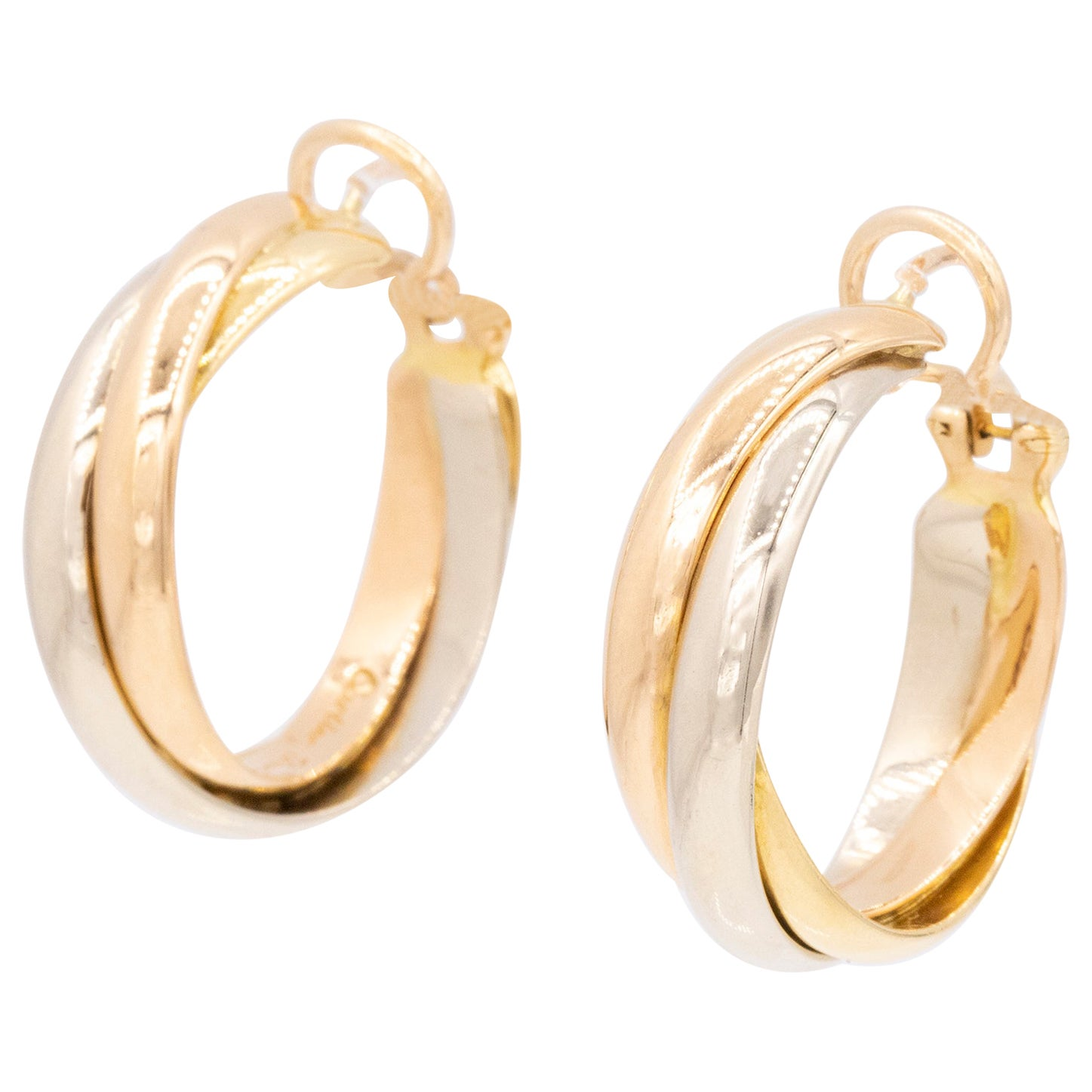 Cartier Trinity Hoop Earrings