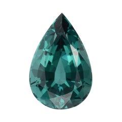 Blue Tourmaline Ring Gem 3.86 Carat Pear Shape Loose Gemstone