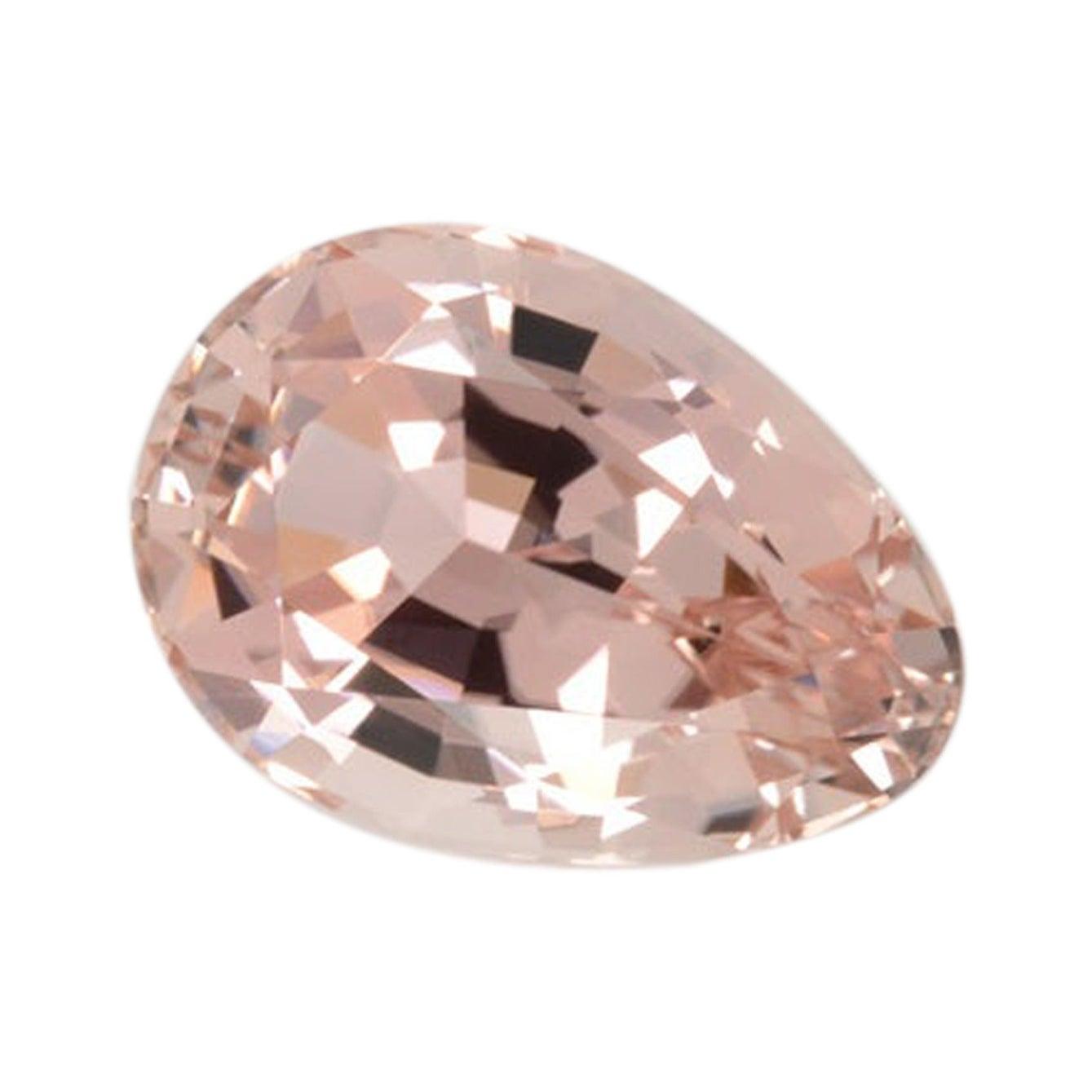 Peach Tourmaline Ring Gem 10.36 Carat Antique Pear Shape Loose Gemstone