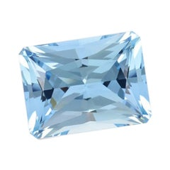 Aquamarine Ring Gem 4.90 Carat Radiant Cut Loose Unset