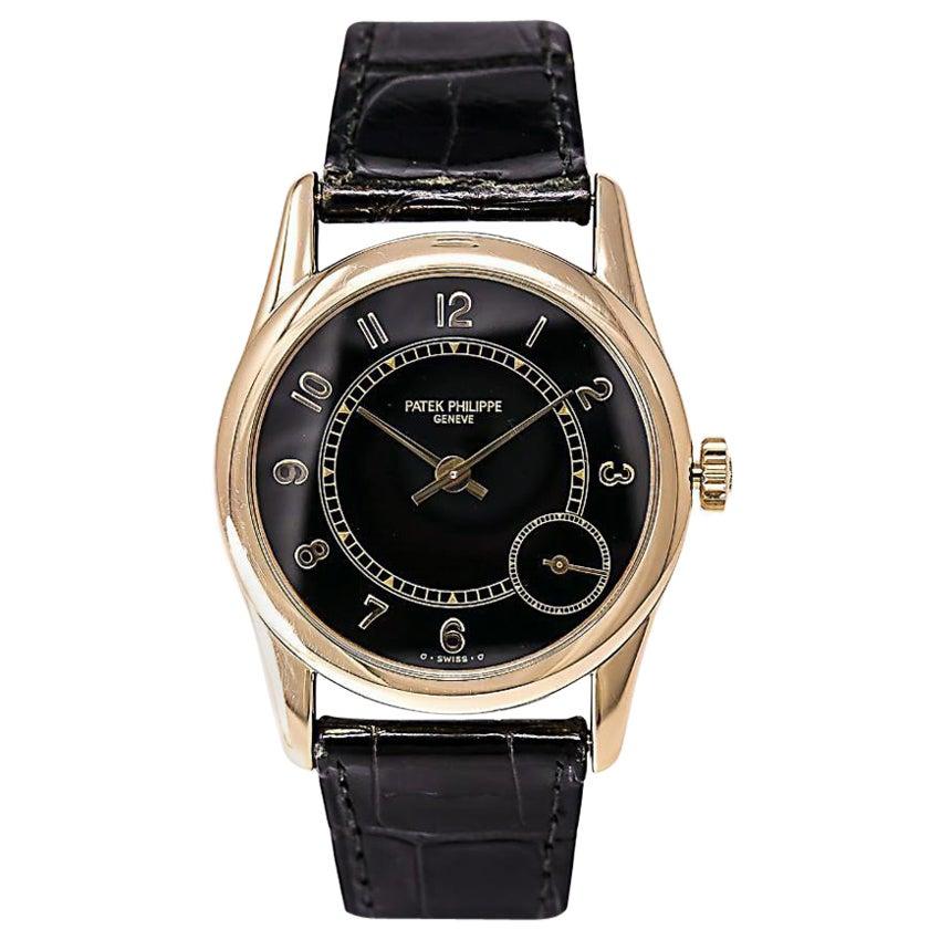 Patek Philippe Calatrava 5000J Men's Automatic Watch 18 Karat Golf Leather Band