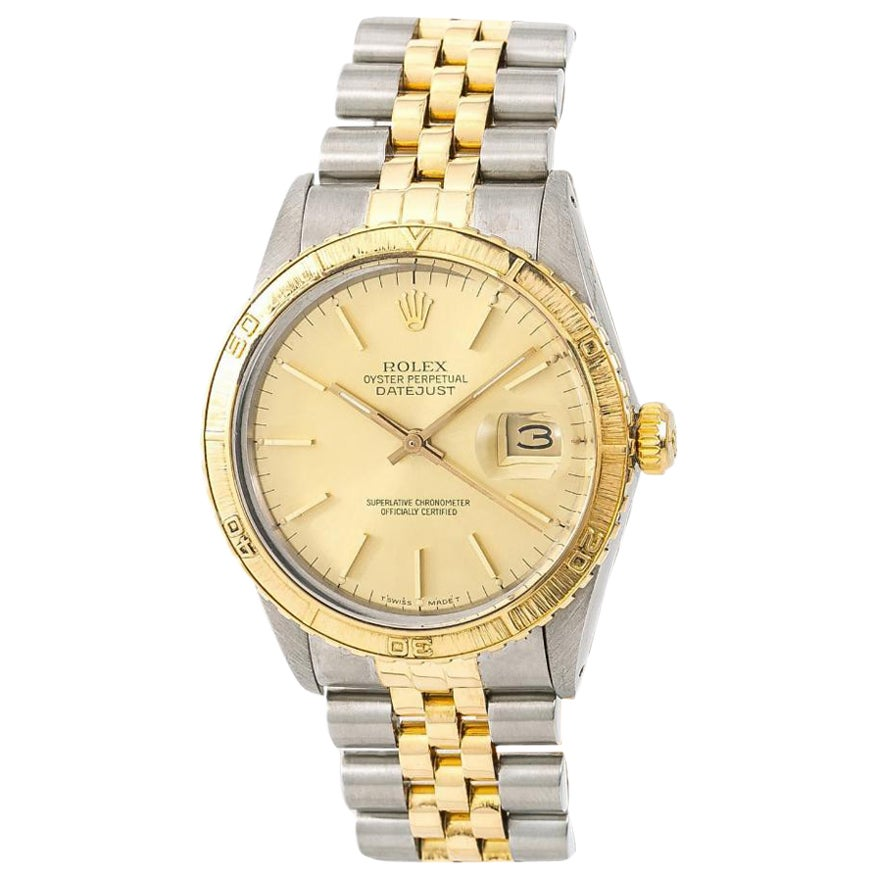 Rolex Datejust 16253 Men's Automatic Watch Champagne Dial Two-Tone 18 Karat