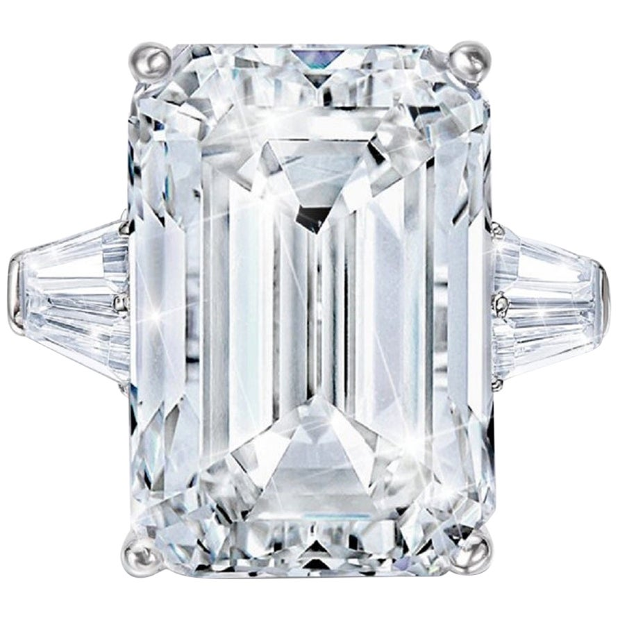 GIA Certified 4 Carat Emerald Cut Diamond F Color VVS1 Clarity