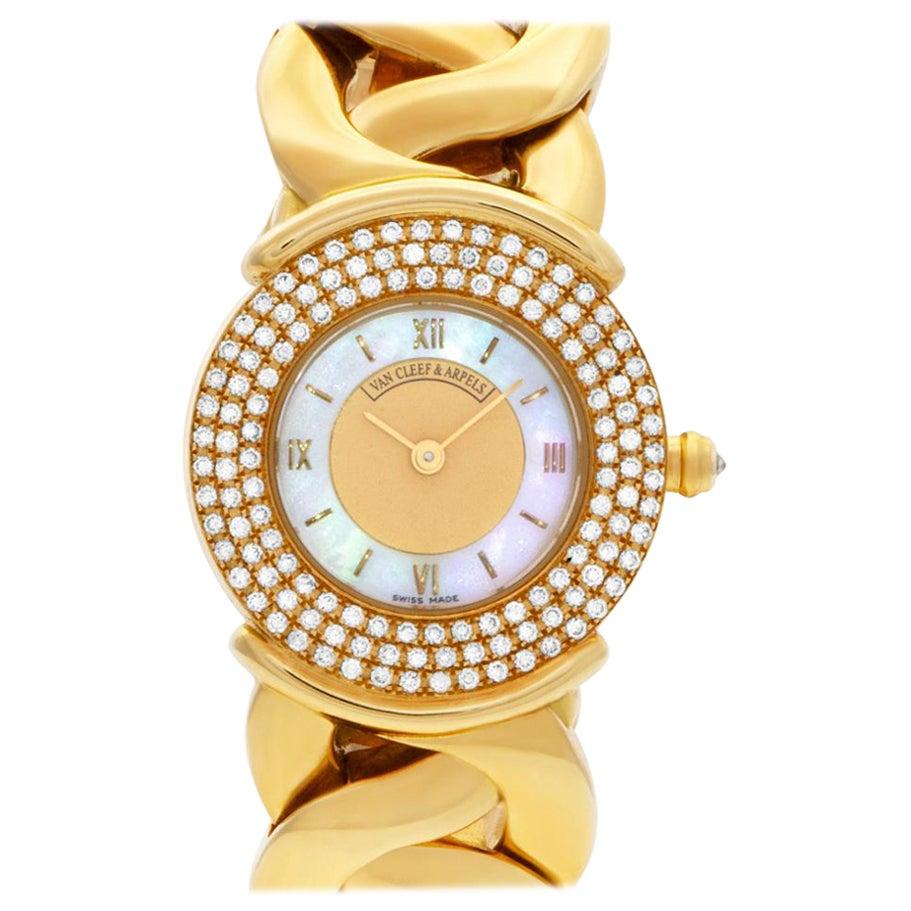 Van Cleef & Arpels Classic 122671 18 Karat Mother of Pearl Dial Quartz Watch