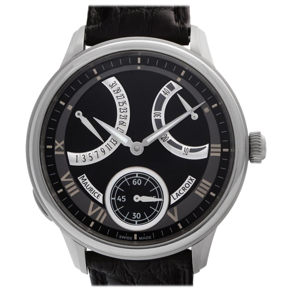 Maurice Lacroix Masterpiece MP7268 Stainless Steel Black Dial Manual Watch