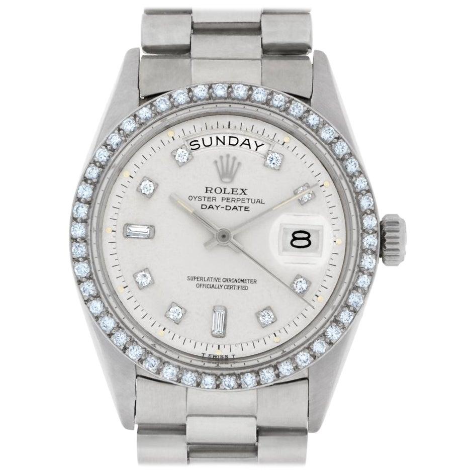 Rolex Day-Date 1803 18 Karat White Gold Auto Watch