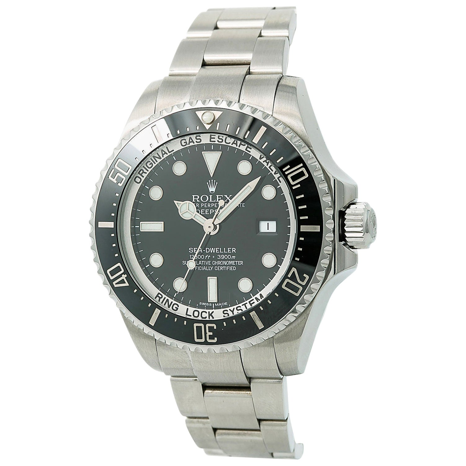 Rolex Sea-Dweller Deepsea 116660 Men's Automatic Watch with B&P, Year 2015