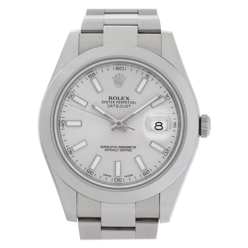 Rolex Datejust 41 116300 Stainless Steel Silver Dial Automatic Watch