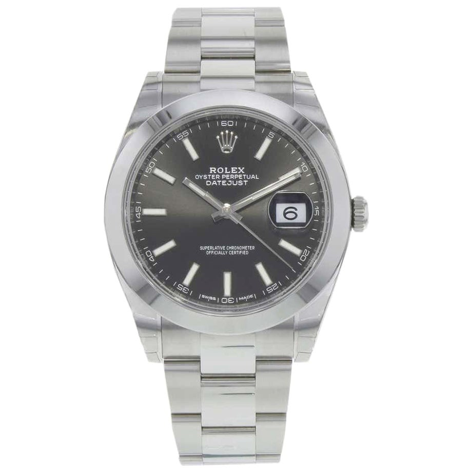 Rolex Datejust 126300 New Rhodium Dial Men's Watch Box and Paper, 2020