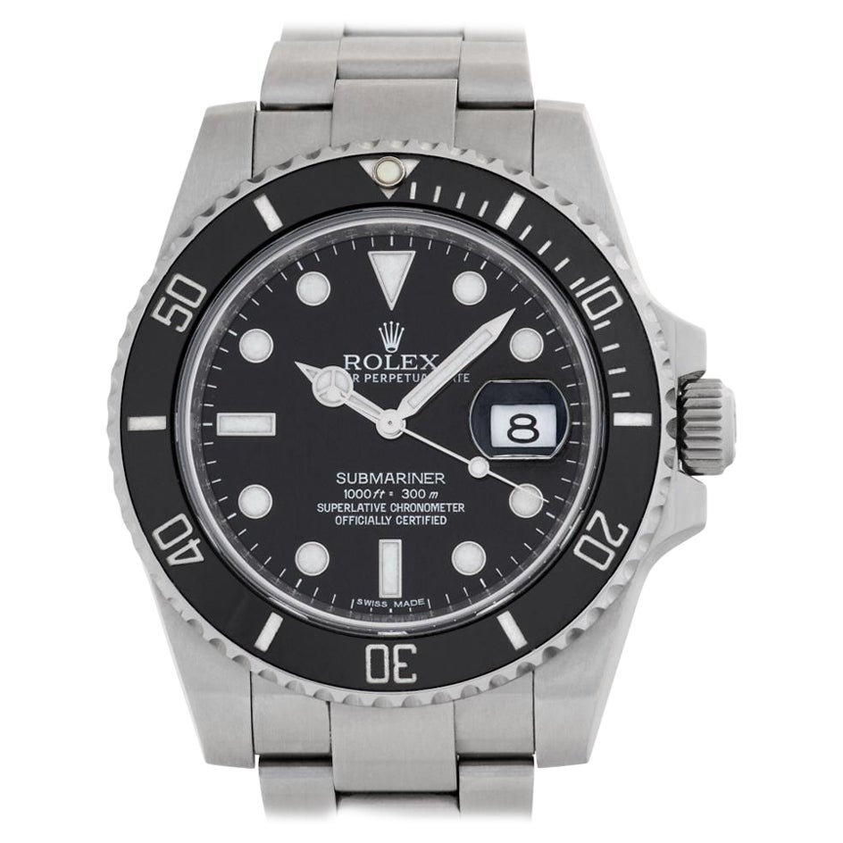 Rolex Submariner 116610 Stainless Steel Black Dial Automatic Watch