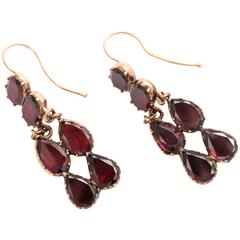 Georgian garnet earrings