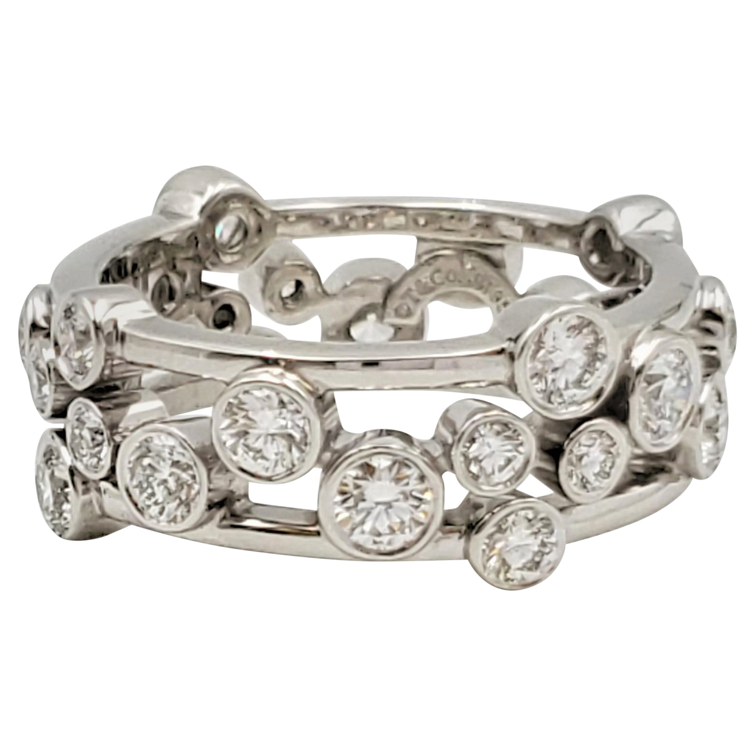Tiffany & Co. Platinum Diamond 'Bubbles' Ring
