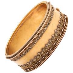 Victorian Etruscan Revival Cuff Bracelet