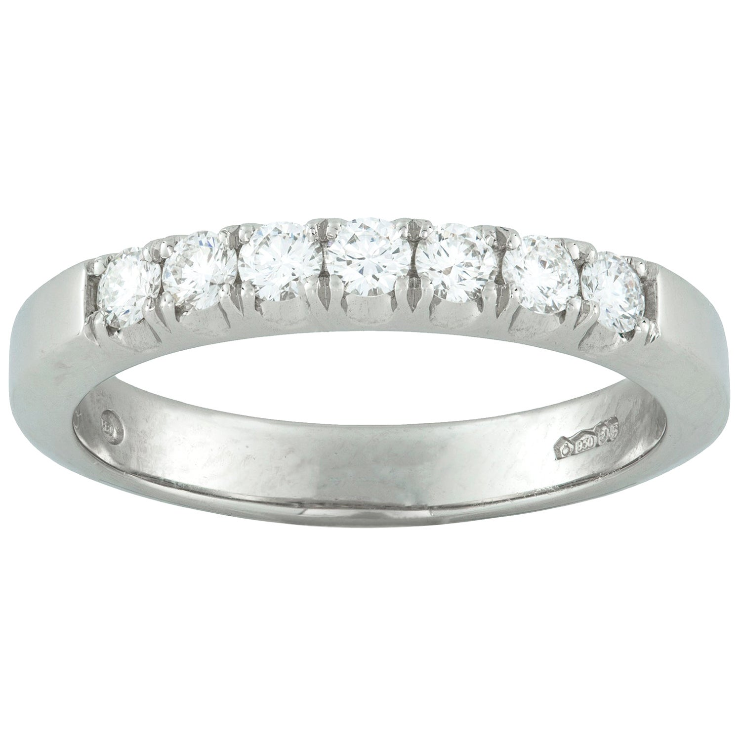 Platinum Seven-Stone Diamond Half Eternity Ring