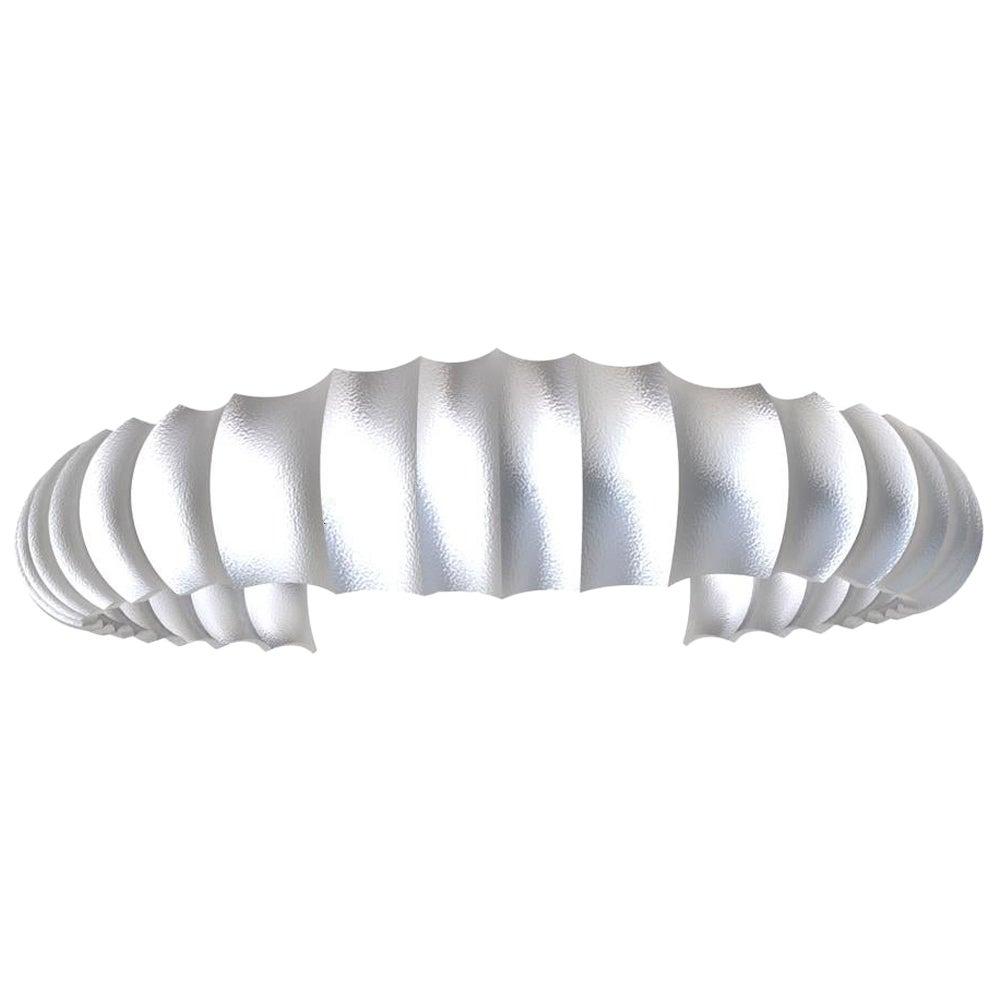 Platinum Men's Concave Cuff Bracelet