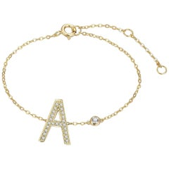 A Initial Bezel Chain Anklet