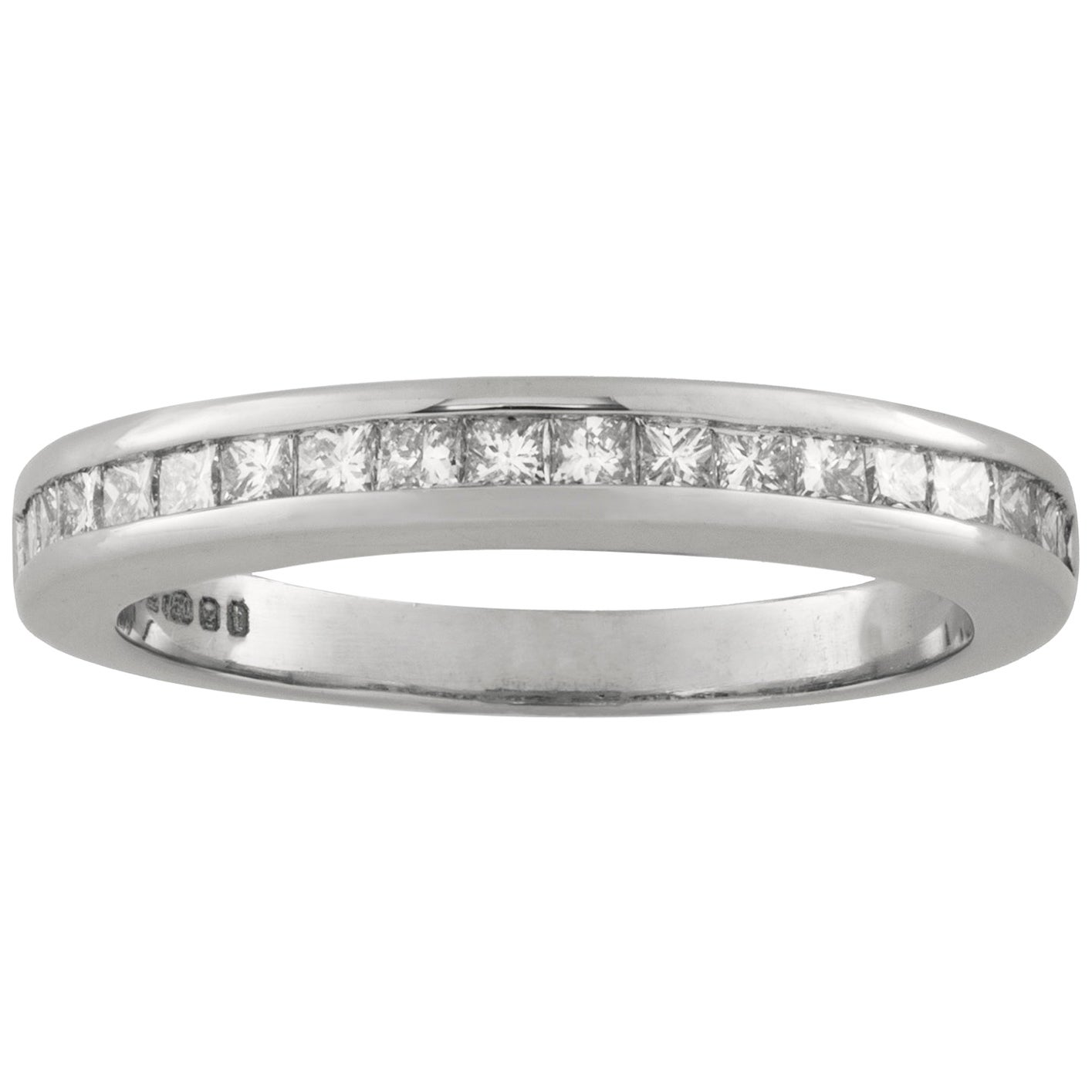 Half Eternity Princess-Cut Diamond Ring