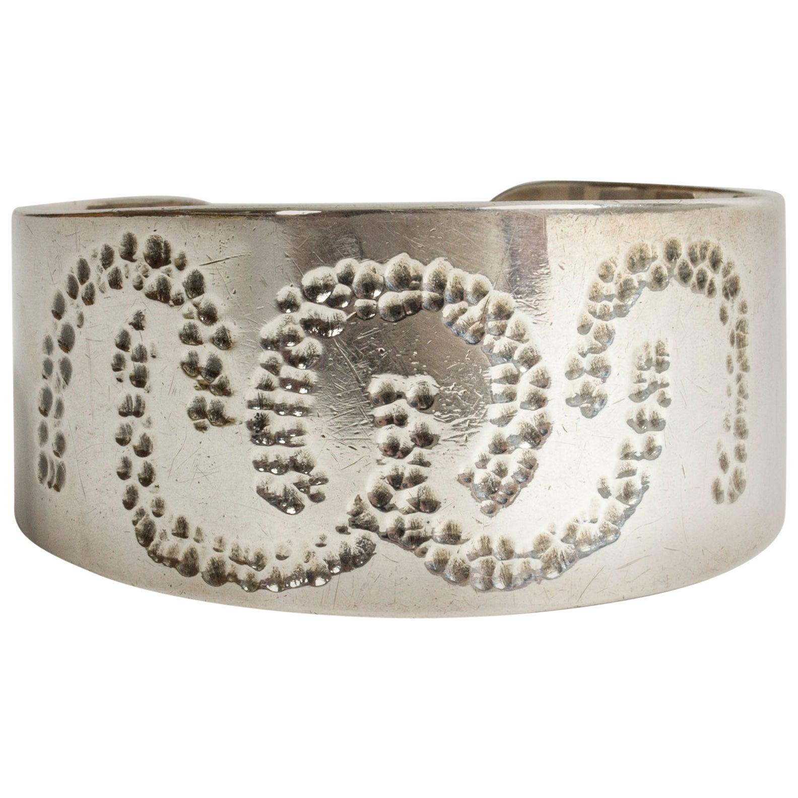 Silver Bracelet from Atelier Borgila, Sweden, 1977