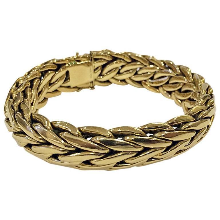 asprey and co handmade 18k bracelet 20th century at 1stdibs