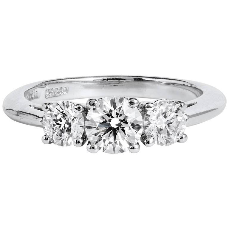 Tiffany & Co. Three Stone Diamond Engagement Ring