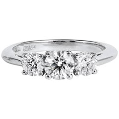 Tiffany & Co. Three-Stone Diamond Engagement Ring