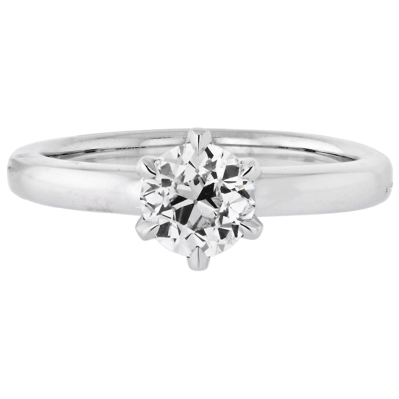 1.02 Carat Old European Cut Diamond G/VS2 GIA Solitaire Engagement Ring