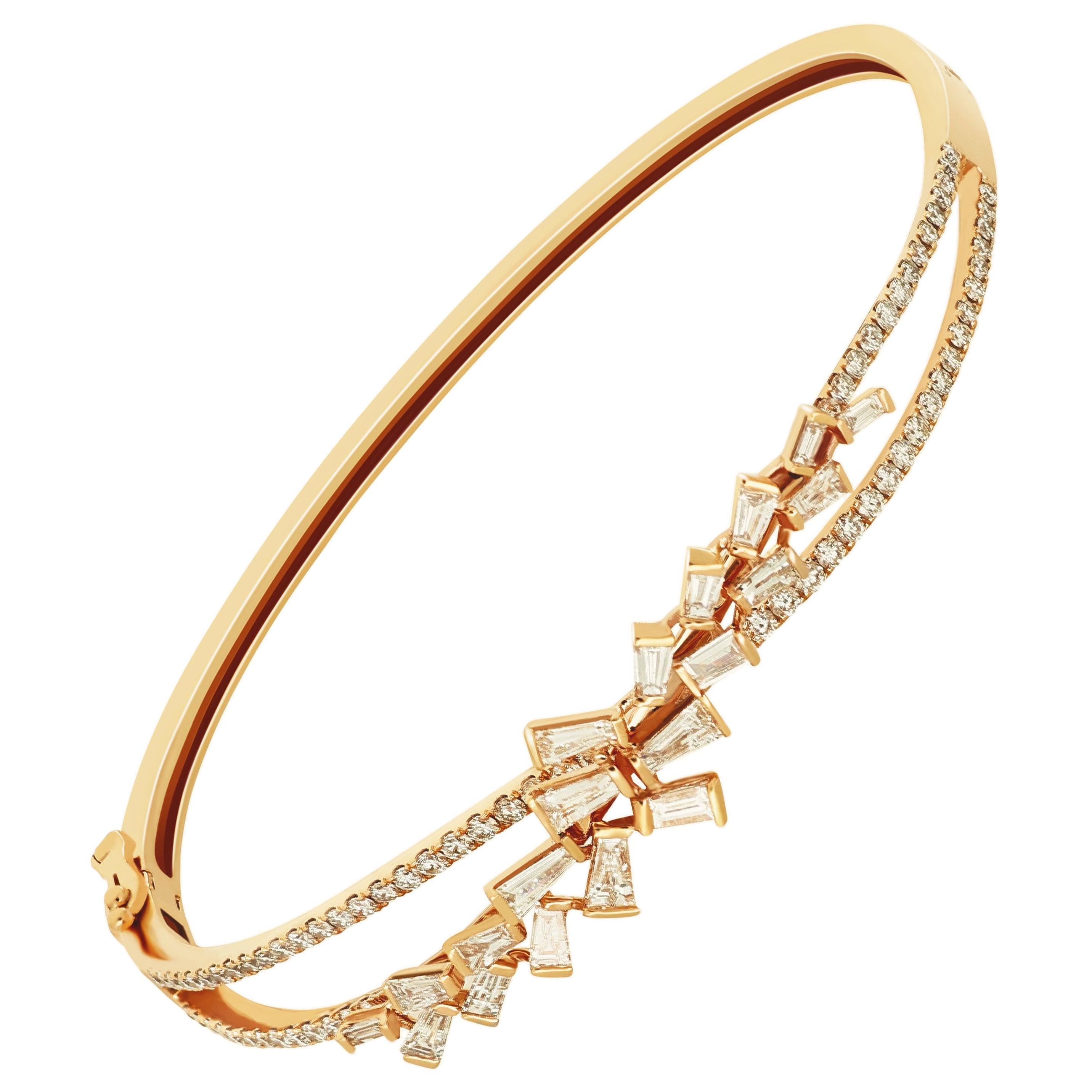 Amwaj Jewellery Marquise Cut Diamond Bangle