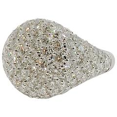 Jona Diamond Pavé Gold Signet Ring