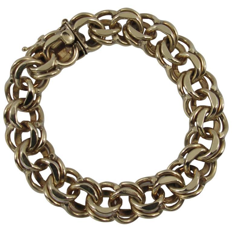 Gold Double Spiral Bracelet