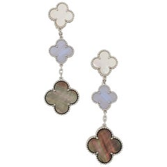 Van Cleef & Arpels 'Magic Alhambra' Three-Motif Earrings