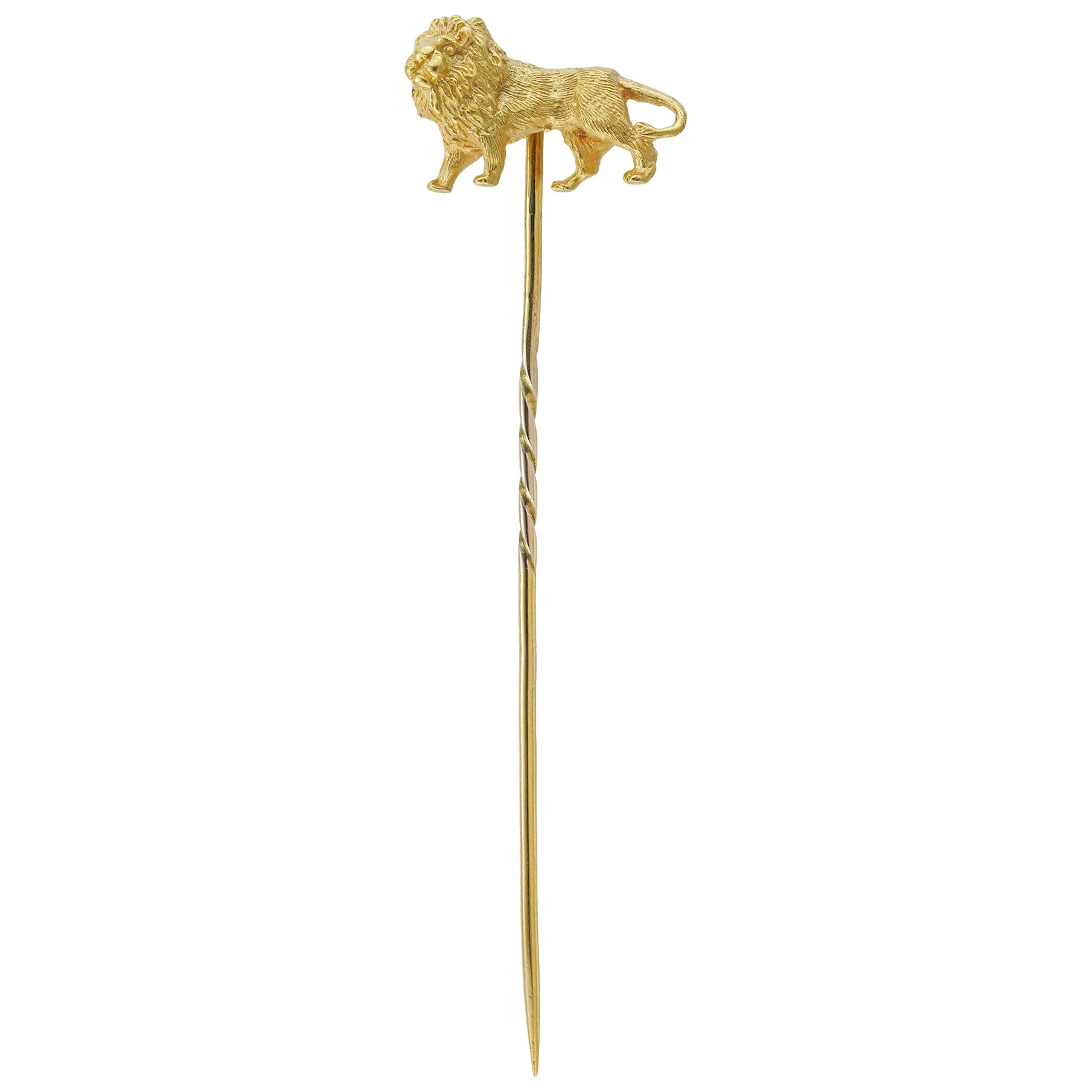 Gold Lion Stick-Pin
