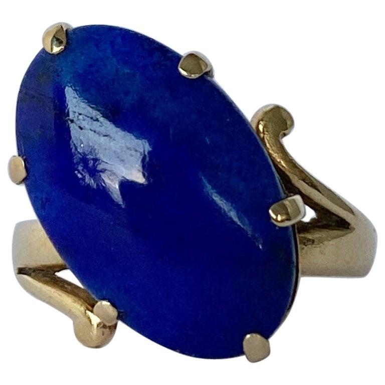 Vintage Lapis Lazuli and 9 Carat Gold Ring