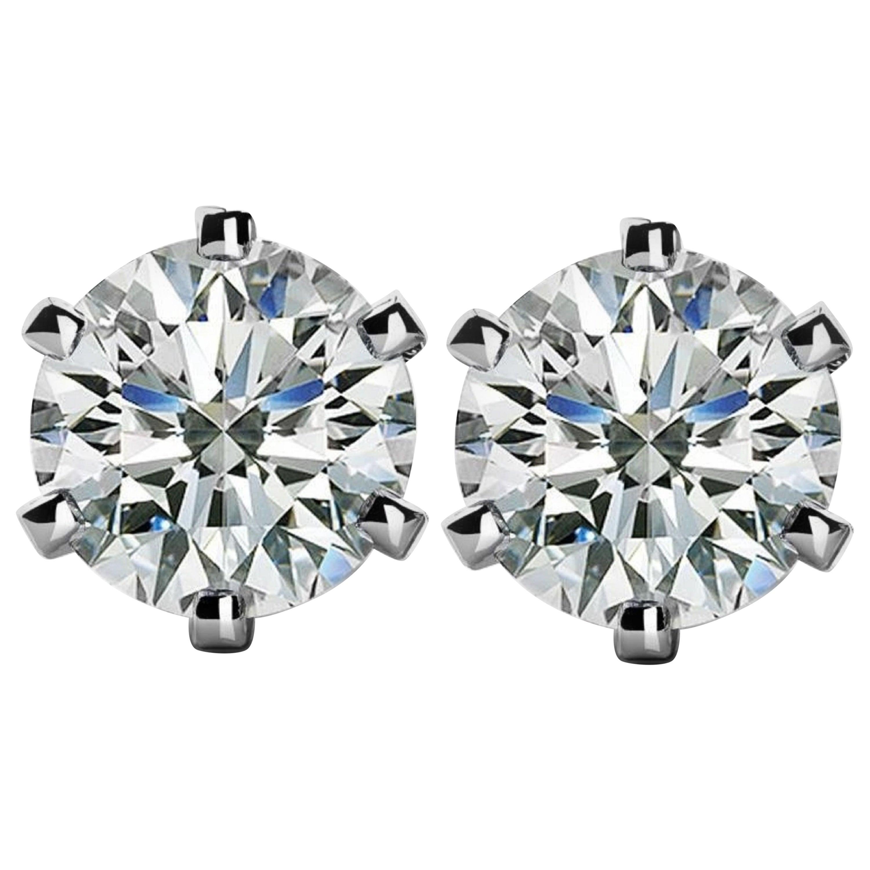 GIA Certified 4 Carat Diamond Studs INTERNALLY FLAWLESS