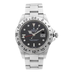 Rolex Explorer II Steel GMT Black Dial Oyster Band Automatic Men's Watch 16570