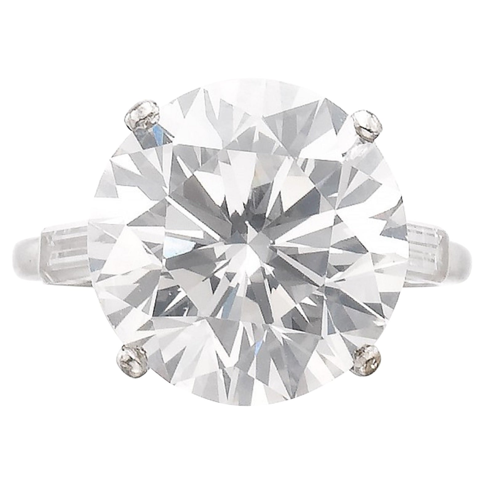 Exceptional Flawless Type 2A GIA Certified 6 Carat Round Brilliant Cut Diamond