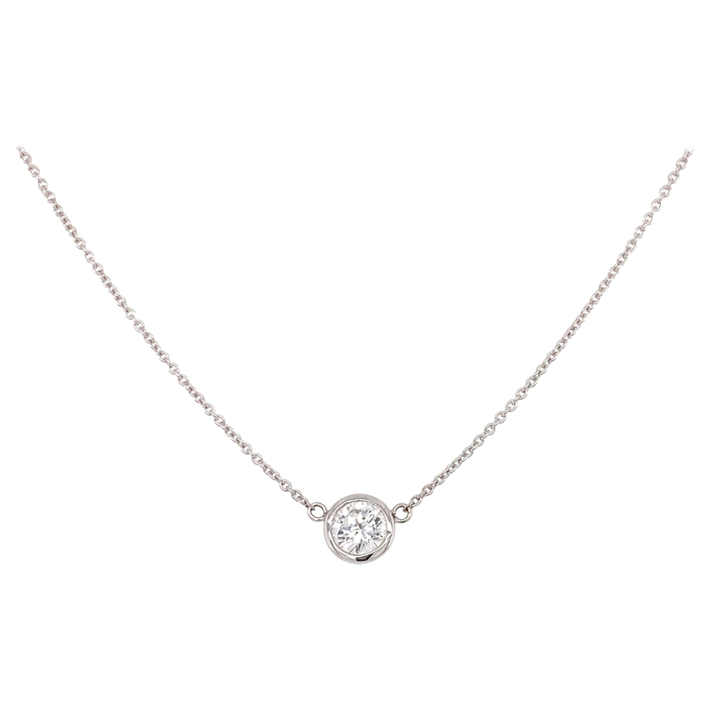 Solitaire Diamond Pendant Necklace
