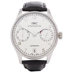 IWC Portuguese 0 IW500104 Men's Platinum 7 Day, Limited Edition of 500 Pieces