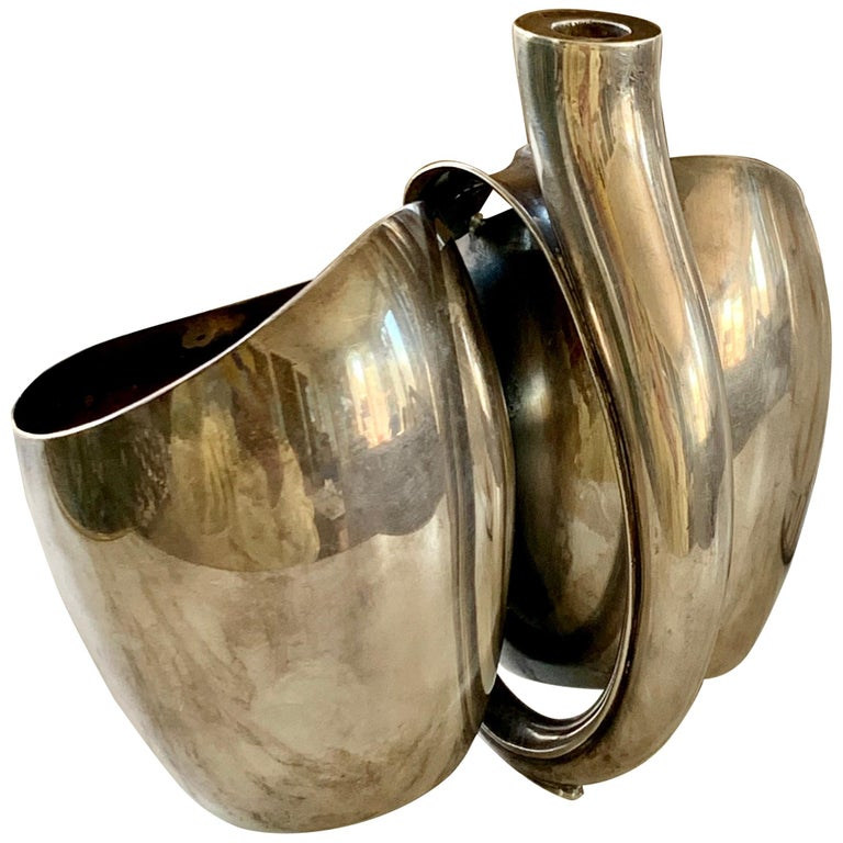 Danish Paul Bang Modernist Sterling Silver Cups '2' For Sale