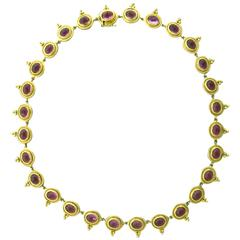 Temple St. Clair Pink Tourmaline Gold Necklace