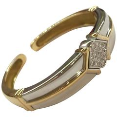 hermes Two Color diamond Gold bracelet