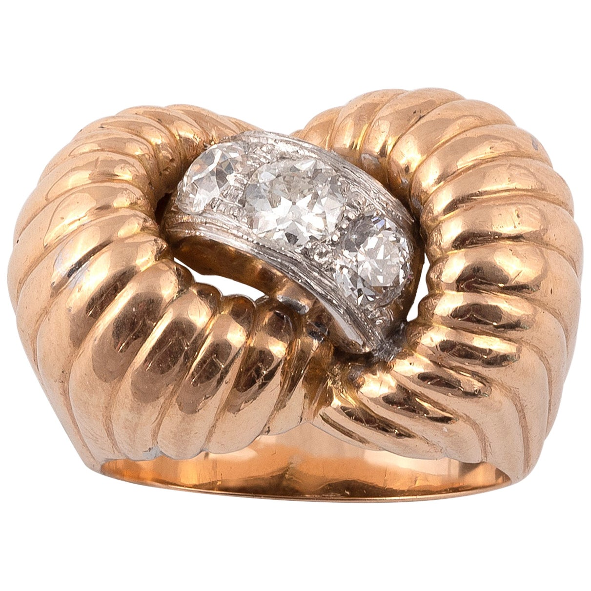 Retro Diamond Ring, 1940s