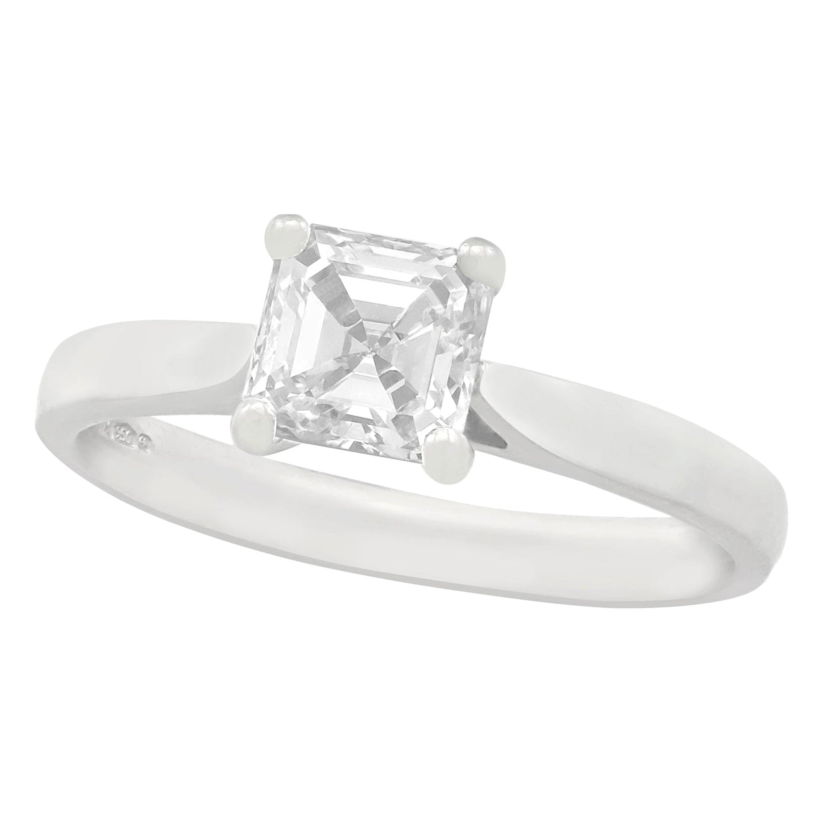 GIA Certified Diamond and Platinum Solitaire Engagement Ring