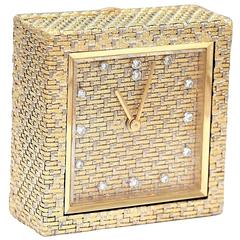 Boucheron diamond gold Alarm clock