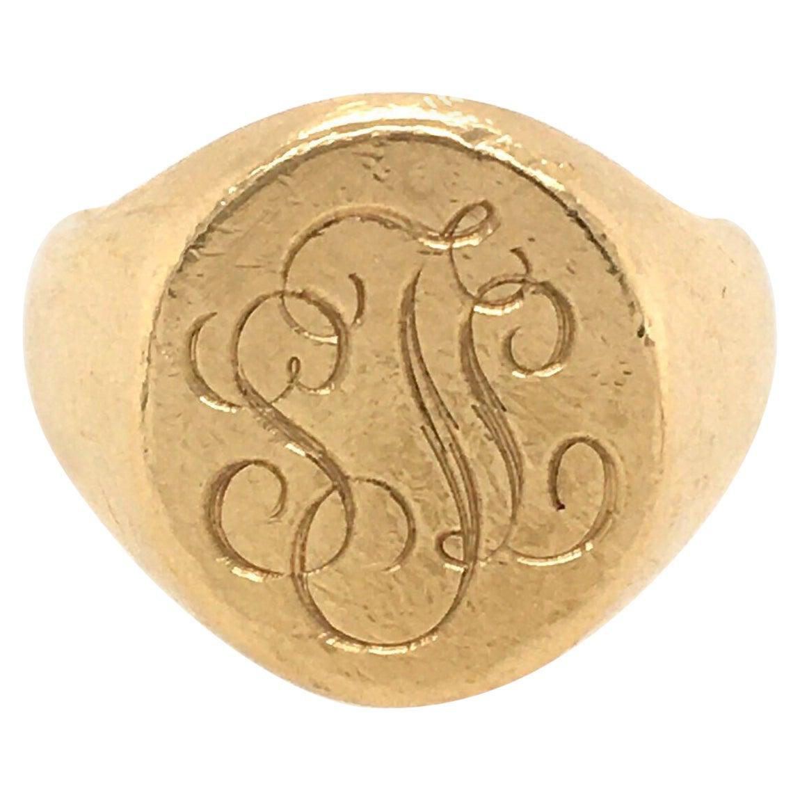 Yellow Gold Signet Ring