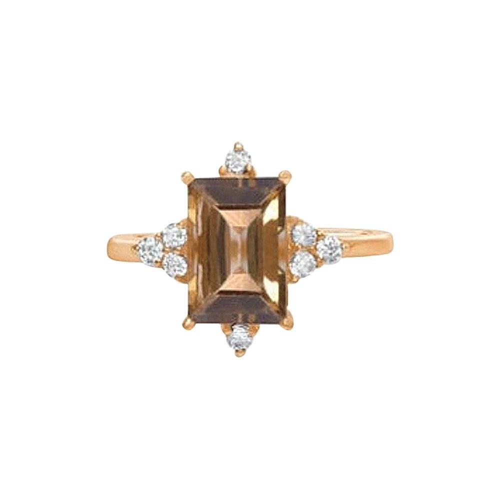 Natural Tourmaline Diamond Ring, Green Tourmaline Ring, Engagement Ring