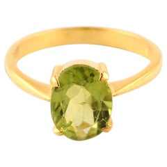 Peridot Ring, Peridot Ring Gold, Birthstone Ring, Minimalist Ring, Solid Gold