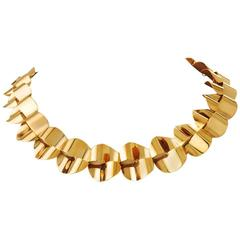 Modernist Gold Necklace by Menrad Burch