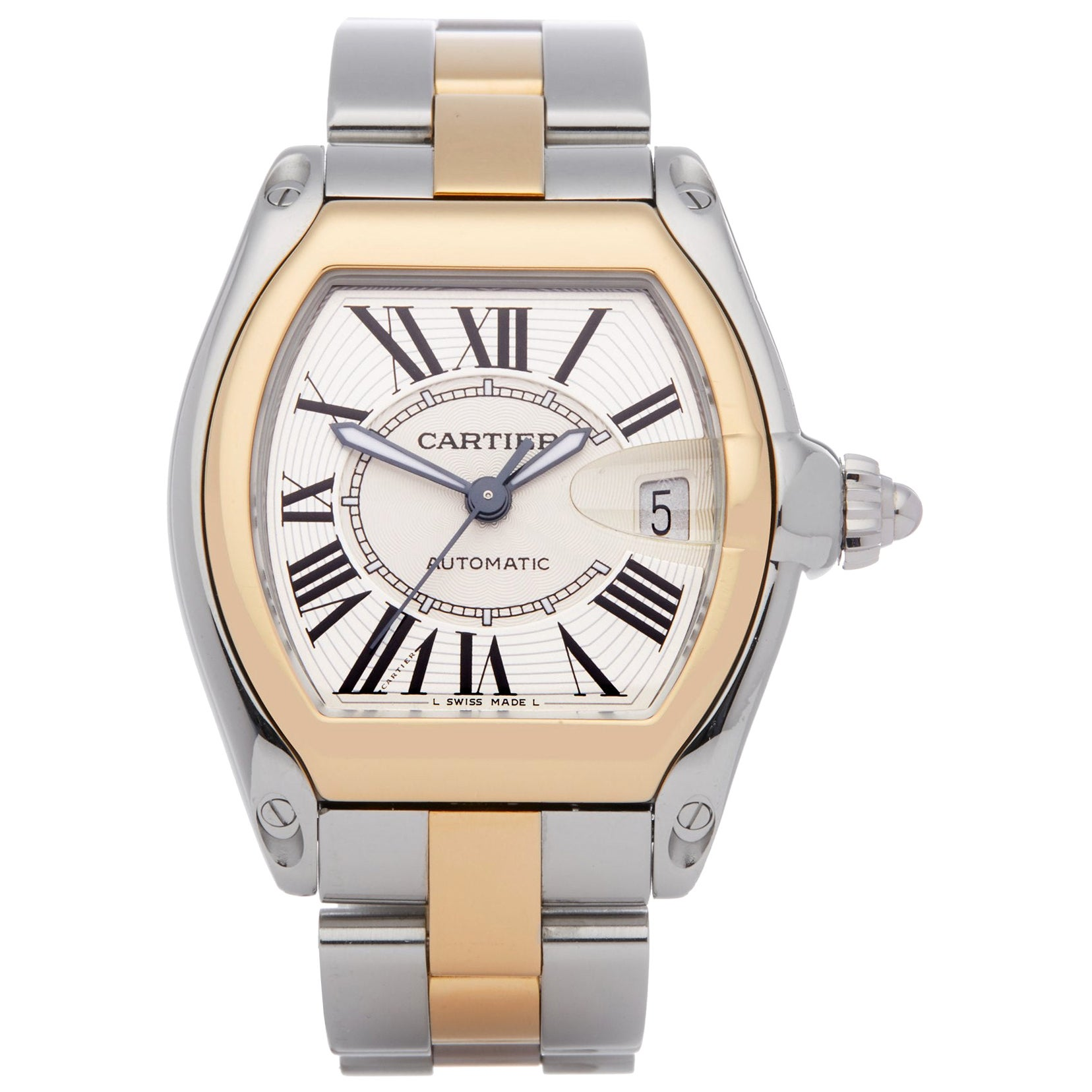 Cartier Roadster 2510 Men's Stainless Steel & Yellow Gold Large Automatic Watch