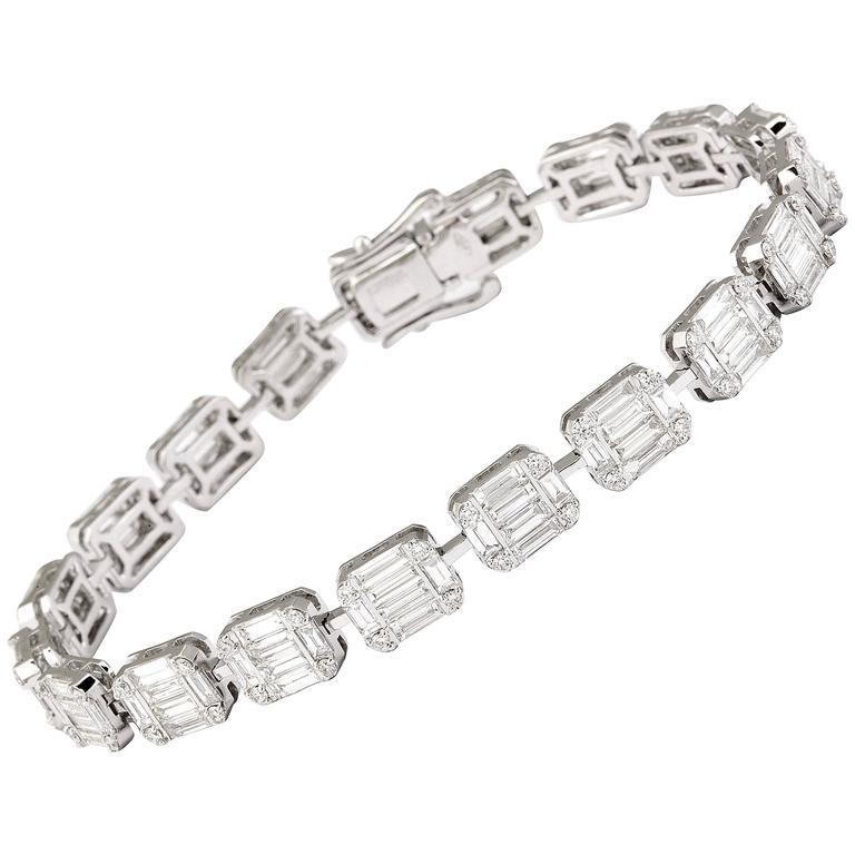 Baguette Diamond Gold Bracelet